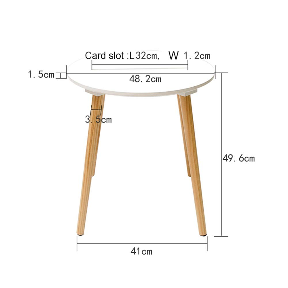 LJHA bianzhuo End Table, Small Round Table Card Slot Design Can Be Placed On A Small Coffee Table Sofa Side Table Small Table - The Bedroom Living Room Balcony, 3 Colors Bedside Tables by GYH End Table