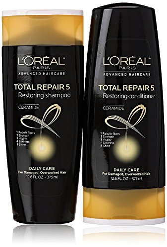 LOreal Repair Shampoo Conditioner Packaging