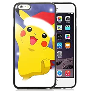 Durable and Fashionable Pokemon Popular Cute and Funny Pikachu 07 iPhone 6 Plus 5.5 inch Black TPU Case