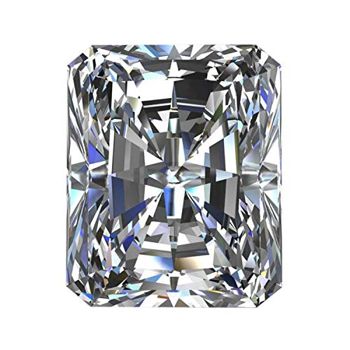 REAL-GEMS VS+ Radiant Cut Moissanite White E/F Color Moissanite Faceted Radiant Moissanite Diamond Loose Stone for Pendant/Ring Jewelry
