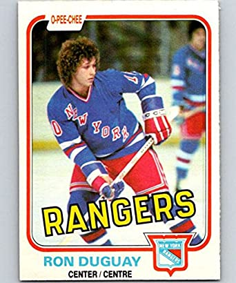 official photos 2073d 6fbe9 Amazon.com: 1981-82 O-Pee-Chee #223 Ron Duguay NY Rangers ...