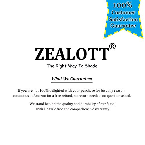 ZEALOTT Heat Rejection Window Glass Tinting Film for Residential and Commercial Uses, Sun Blocker, Solar Guard, 17.7-Inch by 6.5-Feet (45cm x 2m), Light Black by ZEALOTT (Image #7)'