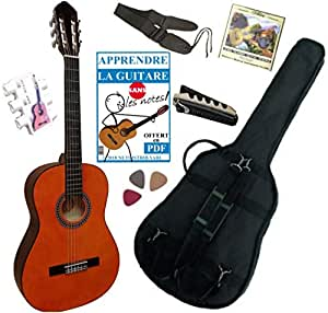 MSA - Pack guitarra clasica 4/4 con 5 accesorios, color natural: Amazon.es: Instrumentos musicales
