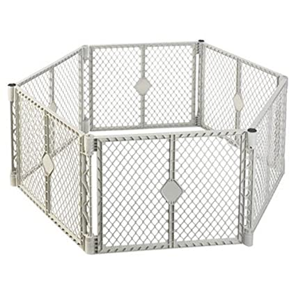 Amazon Com North State Ind 8666 Grey 6 Panel Play Gate Home