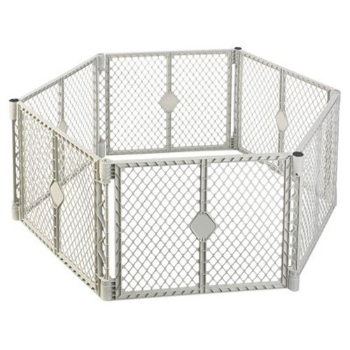 NORTH STATE IND 8666 Grey 6 Panel Play Gate NORTHSTATE IND INC