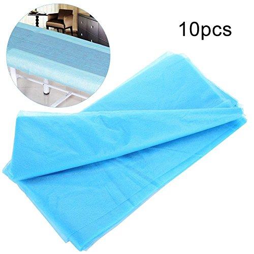 Protector de la cubierta de la cama a prueba de agua no tejida para el salón de belleza, 10pcs / bag Spa Desechables de las...