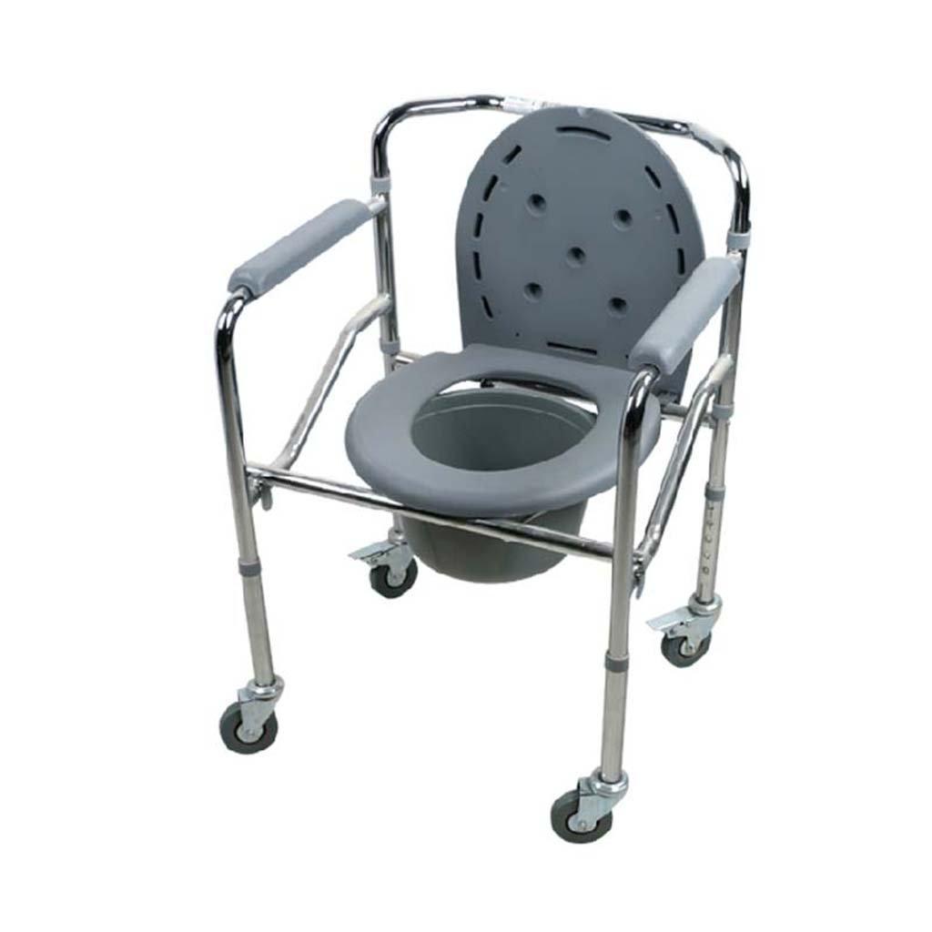 Shariv-シャワーチェア 高齢者/妊娠中の女性のための実用的な便器折り畳み式の椅子/移動式便器 B07DPDCGM9