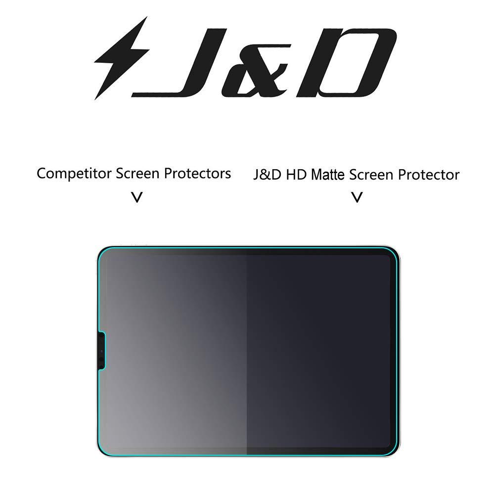 Prima Pel/ícula Mate Protector de Pantalla para iPad Pro 12.9 Inch 2018 NO Cobertura Completa J/&D JD Compatible para 3-Pack Protector de Pantalla para iPad Pro 12.9 2018, Anti reflejante