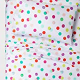 Pillowfort Neon Sports Games Galore Soft Microfiber Sheet Set, Twin, White Pink Green