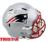 Tom Brady Autographed/Signed New England Patriots Riddell Speed Full Size NFL Helmet - Tristar