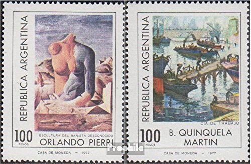 Argentina 1332-1333 (complete issue) 1978 Paintings (Stamps for collectors) painting (Stamp 1978 Paintings)