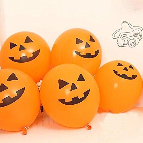 Mark8shop Halloween Balloon Pumpkin Head Balloon Decoration -