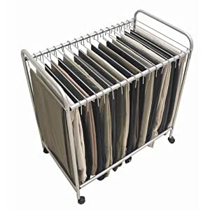 Amazon.com: Trolley Pant Rack Rolling Pants Closet Hanger