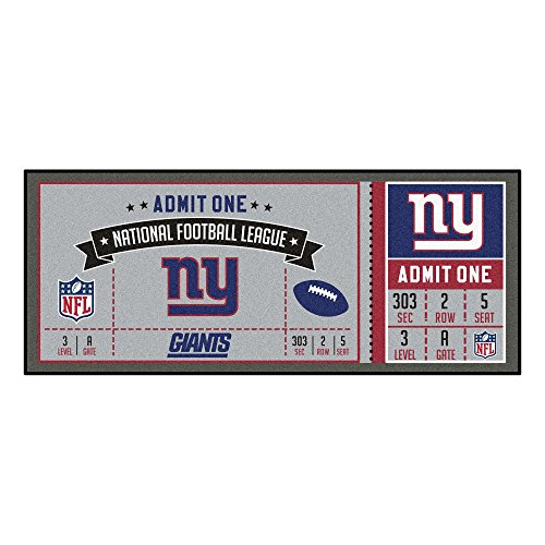 (FANMATS NFL New York Giants NFL-New Giantsticket Runner, Team Color, One Size)