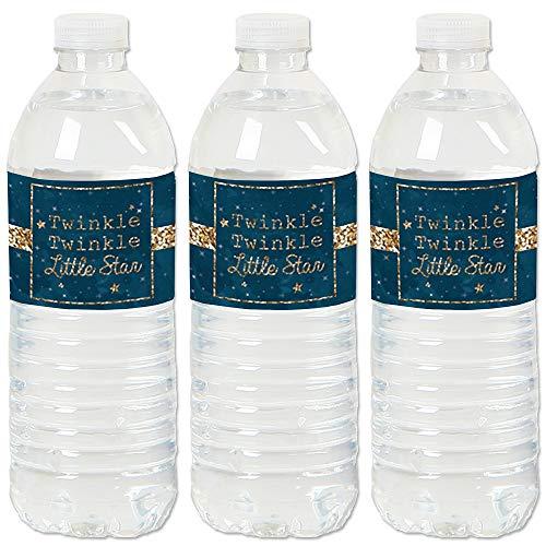 Twinkle Twinkle Little Star - Baby Shower or Birthday Party Water Bottle Sticker Labels - Set of ()
