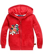 Minin Little Boys Girls Cute Dog Zip Up Hooded Sweatshirt Jacket 2-7Y