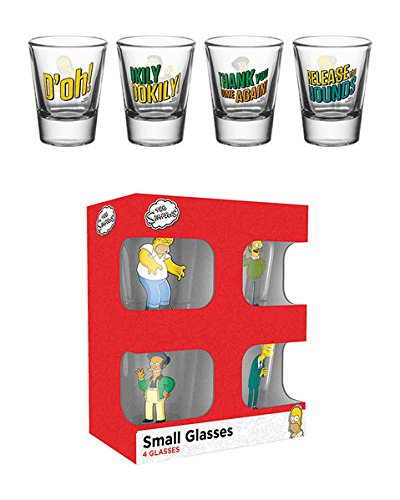 The Simpsons - 4 Piece Shot Glass / Shooters Set (Shot Glasses)