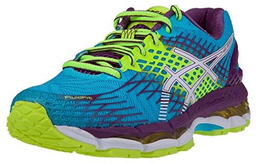 ASICS Women's Gel-Nimbus 17 Running Shoe, Blue Atol/White/Purple, 7 M US