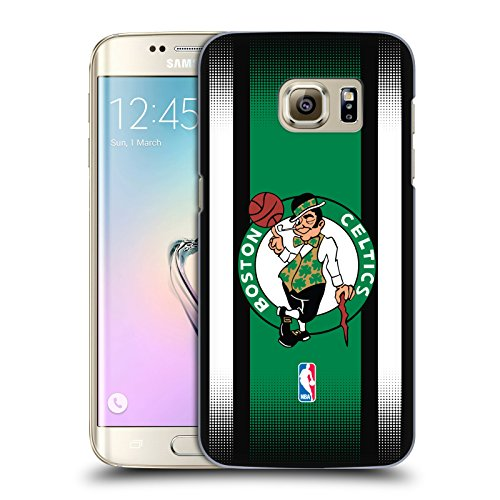 Official NBA Halftone Gradient Boston Celtics Hard Back Case for Samsung Galaxy S7 edge (Boston Celtics Snap)