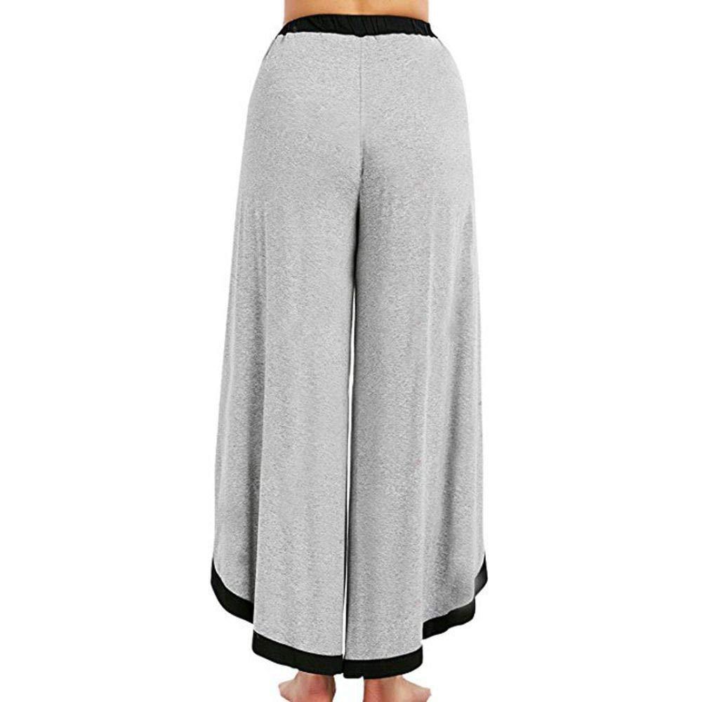 Malloom Frauen Weite Hosen mit Schn/ürung Lose Hohe Taille Palazzo Hosen Harem Yoga Pilates Hosen