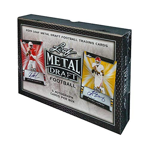 - 2019 Leaf Metal Draft Football Hobby Box