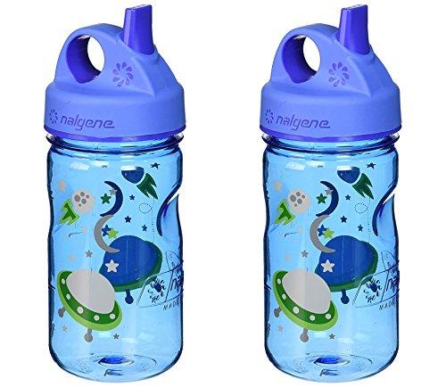 Nalgene Tritan Grip-N-Gulp Kids Water Bottle Space Blue 2