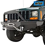 xj cherokee front bumper - EAG Front Winch Bumper for 84-01 Jeep Cherokee XJ