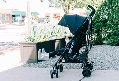 51jsVyXomQL - Inglesina Net Stroller - Lightweight Summer Travel Stroller - UPF 50+ Protection Canopy With Removable And Washable Seat Pad {Black}