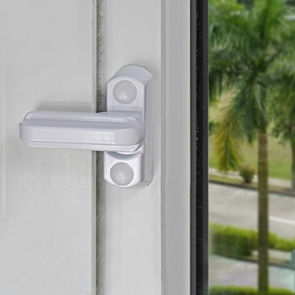 Dylan-EU - Juego de 4 cerraduras de seguridad para puertas de ventanas de UPVC, para seguridad en el hogar: Amazon.es: Bricolaje y herramientas