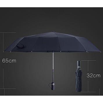 YANMM Plegables Automáticos Para Hombres Y Mujeres Paraguas Dobles Grandes Sombrillas De Protección Solar De Plástico