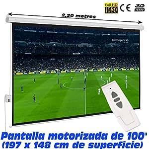 """Pantalla de proyeccion electrica Luxscreen 100"""" Pulgadas"""