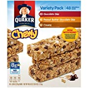 Amazon Lightning Deal 62% claimed: Quaker Chewy Granola Bars Variety Pack-48 Count