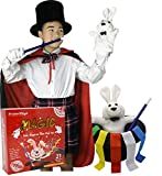 BrilliantMagic Kids Magician Role Play Set with Magic Cape Top Hat Rabbit Magic Wand Gloves and Coloring Ribbons(Small Cape 35'' Length)