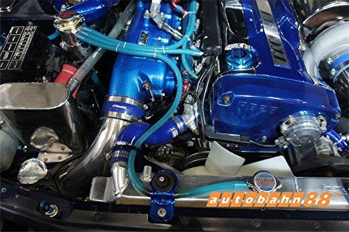 Fit All Models of Nissan Autobahn88 Engine Room Silicone Vacuum Hose Dress Up DIY Kit Blue