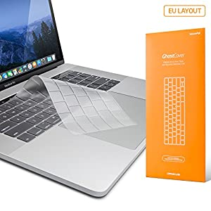 "UPPERCASE GhostCover Premium Ultra Thin Keyboard Protector for MacBook Pro with Touch Bar 13"" or 15"" (2016 Release, Apple Model Number A1706, A1707), US/EU Keyboard Layout Compatible"