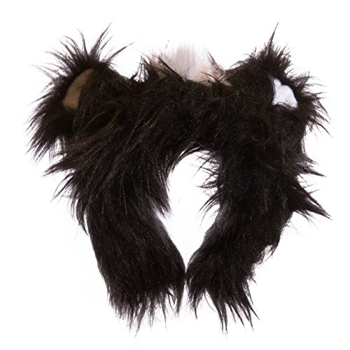 [Life-like Skunk Ears Headband Accessory for Skunk Cosplay, Skunk Costume, Pretend Animal Play or Zoo Animal Party] (Child Plush Giraffe Costumes)
