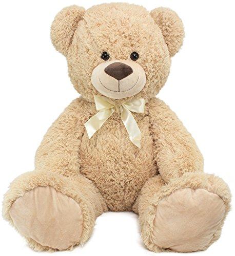 BRUBAKER Peluche Gigante XXL - Oso/Osito de Peluche - 100 cm - Beige - I Love You corazón de Peluche Incluido: Amazon.es: Juguetes y juegos