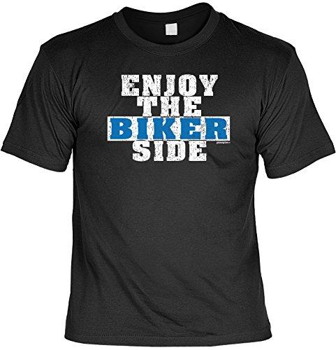 Herren Kurzarm Biker Motorrad Fun-T-Shirt für Zweirad-Fans als tolles Geschenk - Biker Goodman Design® Gr: S Farbe: schwarz