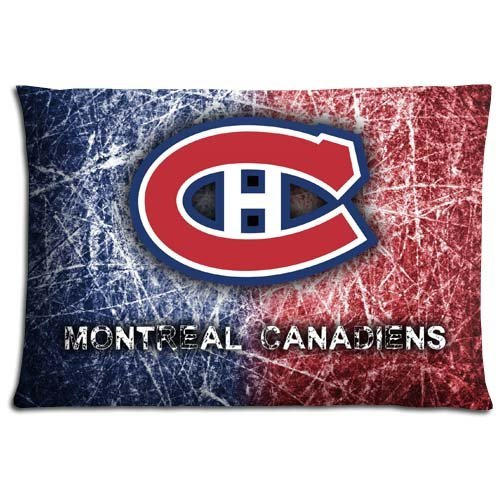 16x24 inch 40x60 cm bedding pillow protector cases Cotton Polyester softer Decorate Montreal Canadiens (Bedding Montreal)