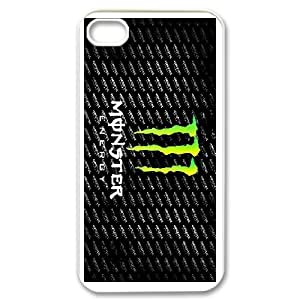 DIY Printed Monster Energy hard plastic case skin cover For iPhone 4,4S SNQ153381