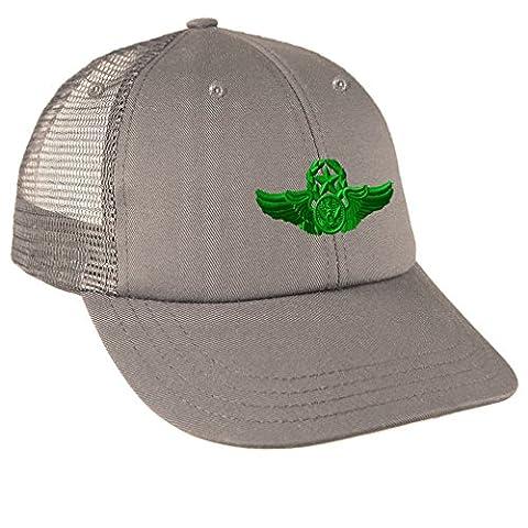 Green Chief Enlistedair Crew Member Sew Low Crown Mesh Golf Snapback Hat Grey (Chief Head Snapback)