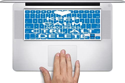 Keep Calm and Press Control Alt Delete Keyboard Decals by Debbies Designs for 11 inch MacBook Air