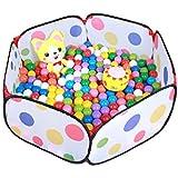 Parque infantil para bebés y niños / Piscina de bolas / Piscina de pelotas para niños Fácil de plegar y desplegar (verde (semi-transparente))