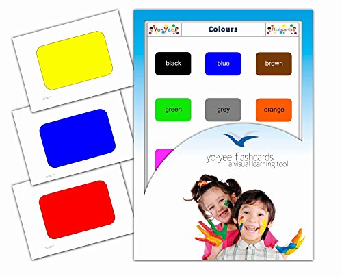 Yo-Yee Flashcards - Color Flash Cards - English Vocabulary Picture Cards for Toddlers, Kids, Children and Adults