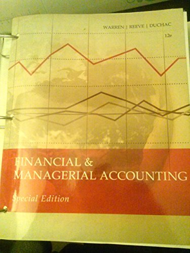 Financial & Managerial Accounting 12e (MSJC Edition)