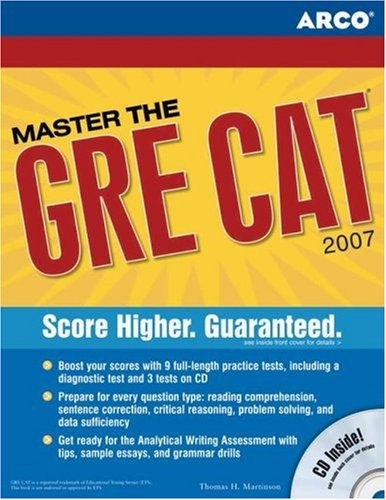 Master the GRE, 2007/e w/CD-ROM (Peterson's Master the GRE)