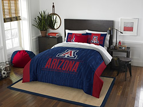 Wildcats Arizona Fabric - The Northwest Company Officially Licensed NCAA Arizona Wildcats Modern Take Full/Queen Comforter and 2 Sham Set