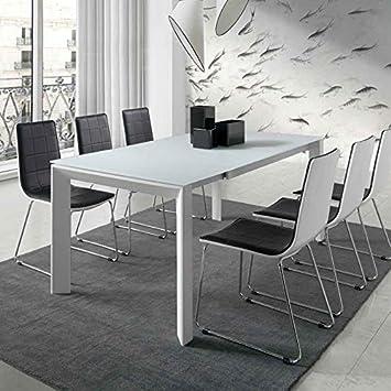 Table 034 Design Extensible Blanc M EmeraCuisine Laqué xCoQeBErdW