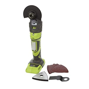 Ryobi JobPLUS ONE+ 18V Multi Tool P246 Console & P570 Head Attachment and Accessories Shown (Certified Refurbished)