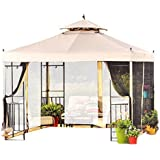 Garden Winds Athena Gazebo Replacement Canopy, Riplock 350 by Garden Winds
